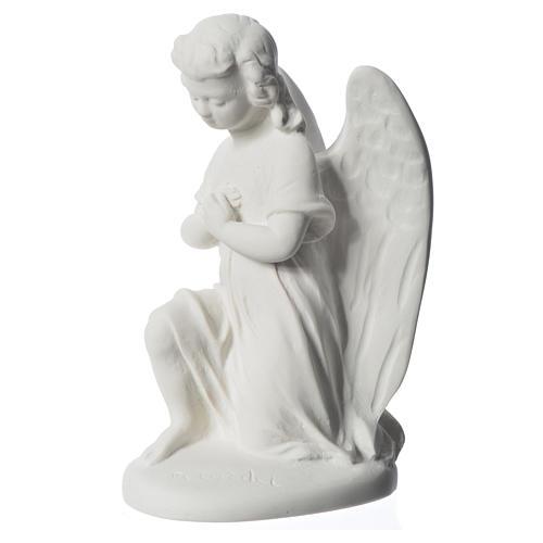 Angioletto destro 18 cm marmo di Carrara 7