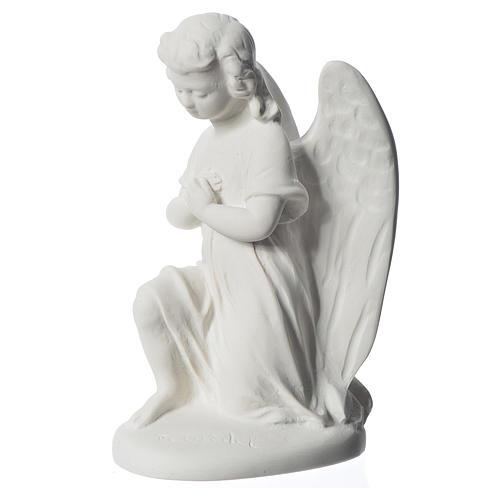 Angioletto destro 18 cm marmo di Carrara 3