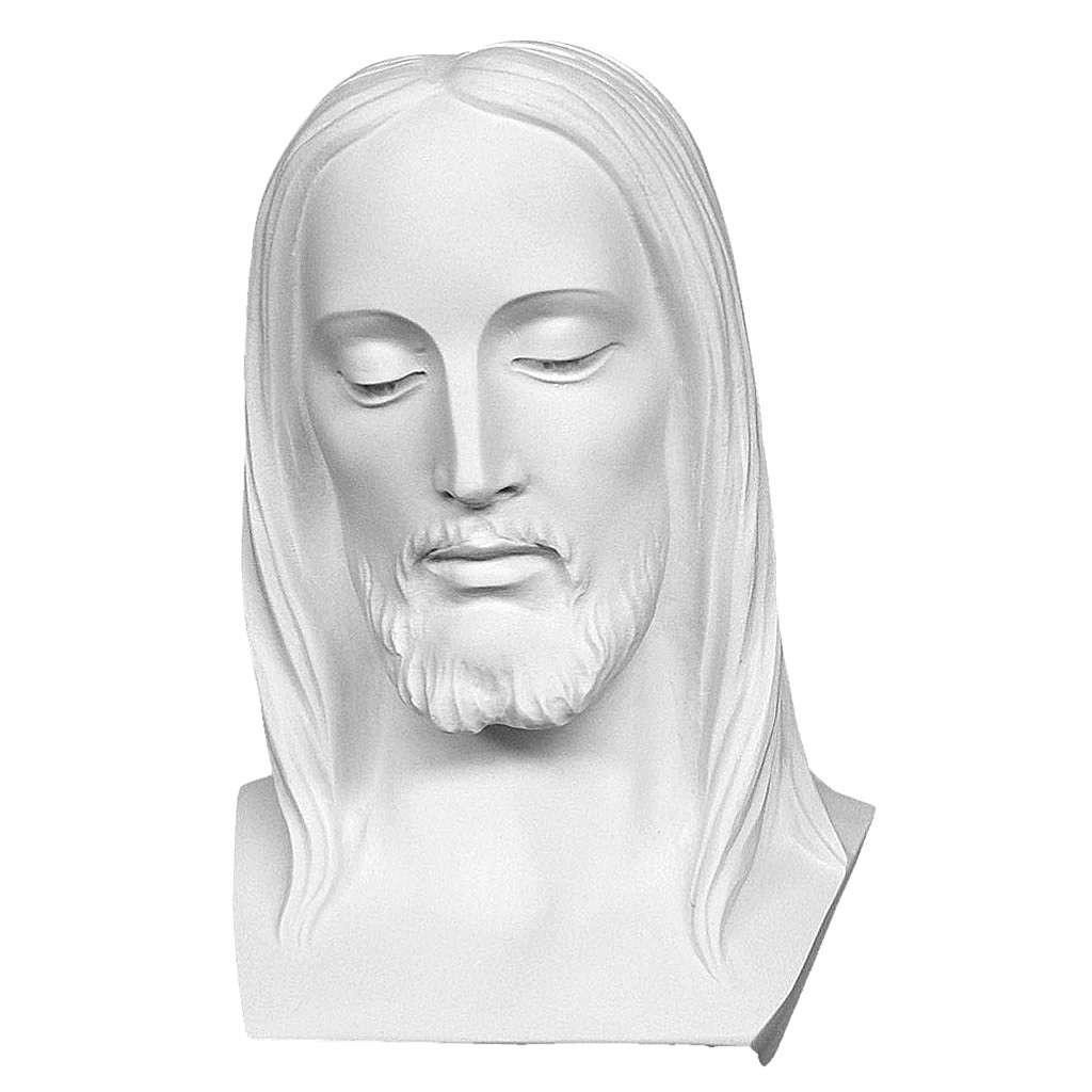 Buste du Christ 28 cm poudre de marbre 4