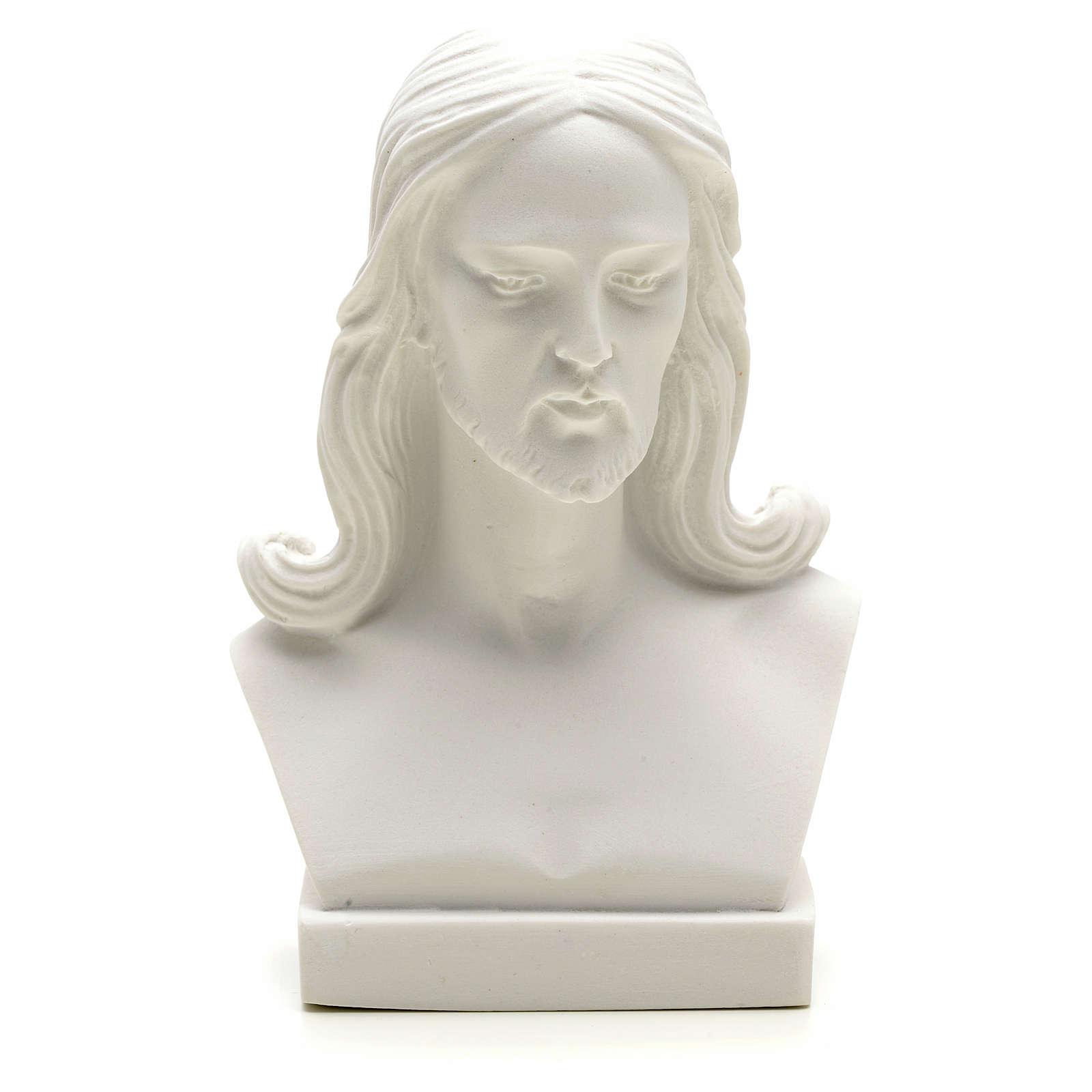 Jesus Christ, 12 cm reconstituted carrara marble bust 4