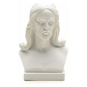 Jesus Christ, 12 cm reconstituted carrara marble bust s3