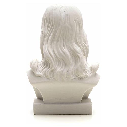 Jesus Christ, 12 cm reconstituted carrara marble bust 2