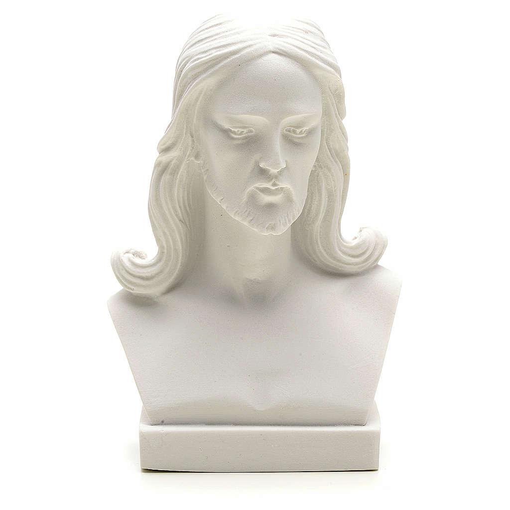 Busto di Cristo cm 12 marmo di Carrara 4