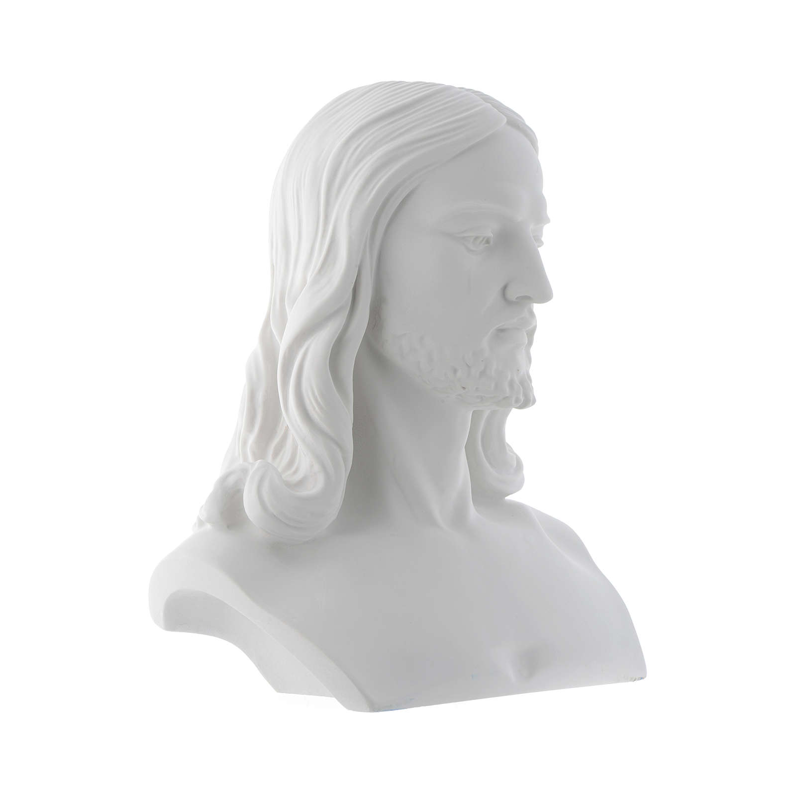 Christ, reconstituted carrara marble bust, 33 cm 4