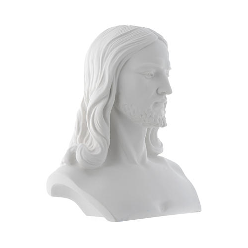 Christ, reconstituted carrara marble bust, 33 cm 2