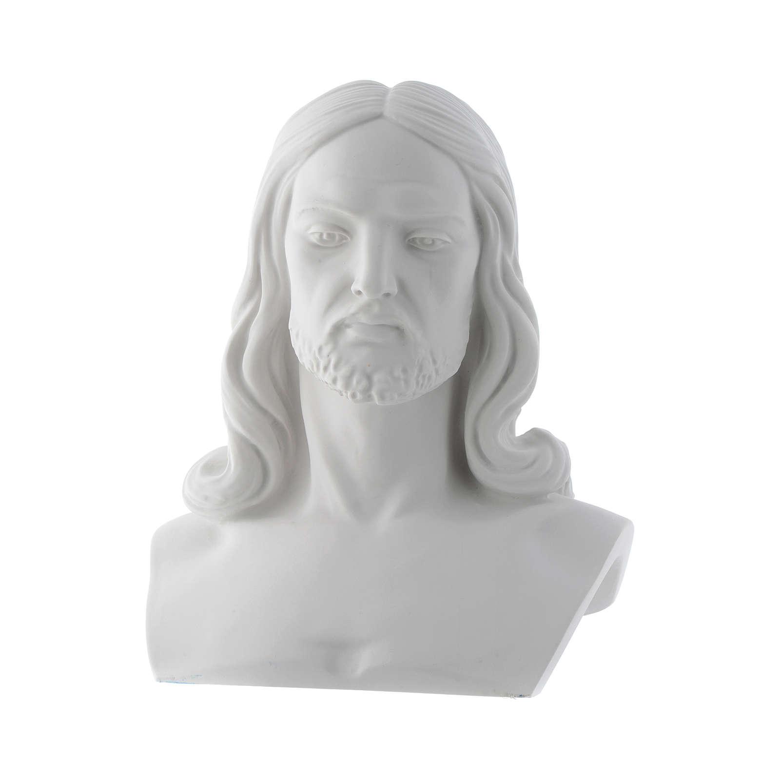 Polvere Di Marmo.Busto Di Cristo Cm 33 Polvere Di Marmo