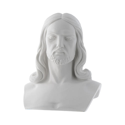 Christ, reconstituted carrara marble bust, 33 cm 1