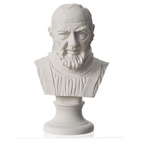 Busto Padre Pio cm 14 marmo ricostituito s1