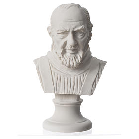 Popiersie Ojciec Pio marmur syntetyczny 14 cm s4