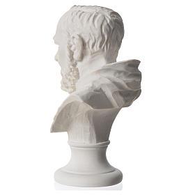 Padre Pio, composite Carrara marble bust, 14 cm s3