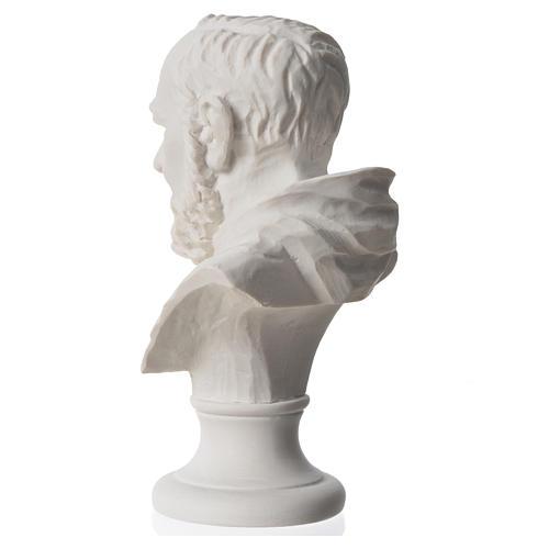 Padre Pio, composite Carrara marble bust, 14 cm 6