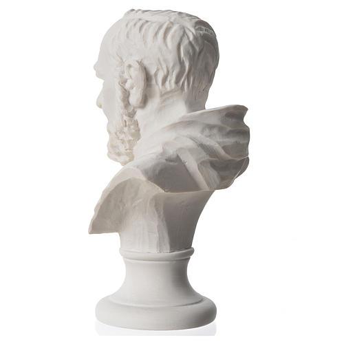 Padre Pio, composite Carrara marble bust, 14 cm 3