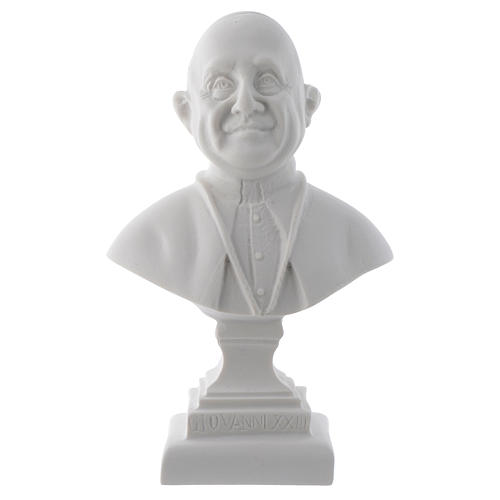 Pope John XXIII, reconstituted carrara marble bust, 16 cm 1