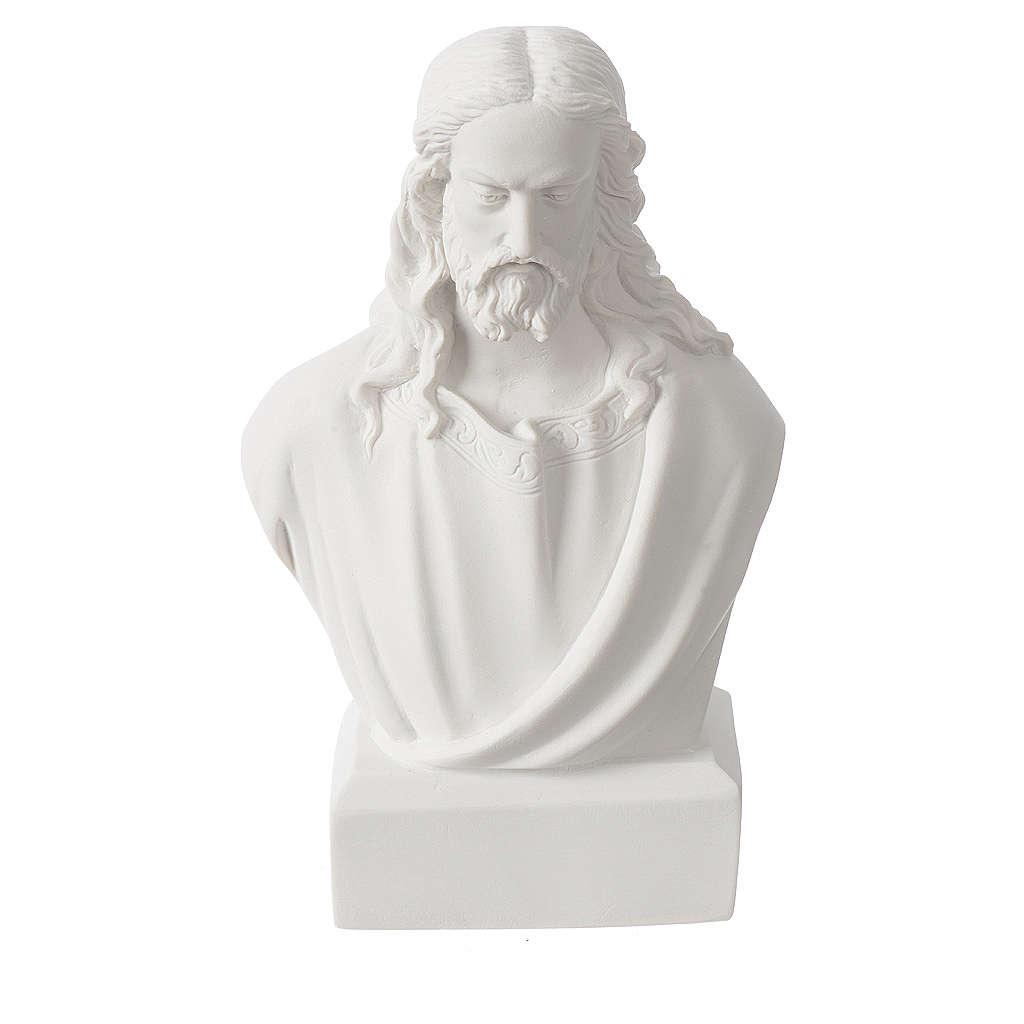 Buste de Jésus 19 cm marbre 4