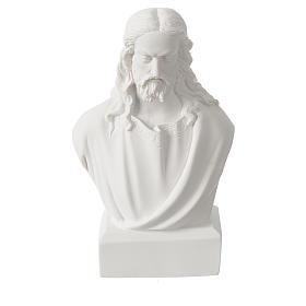 Buste de Jésus 19 cm marbre s1