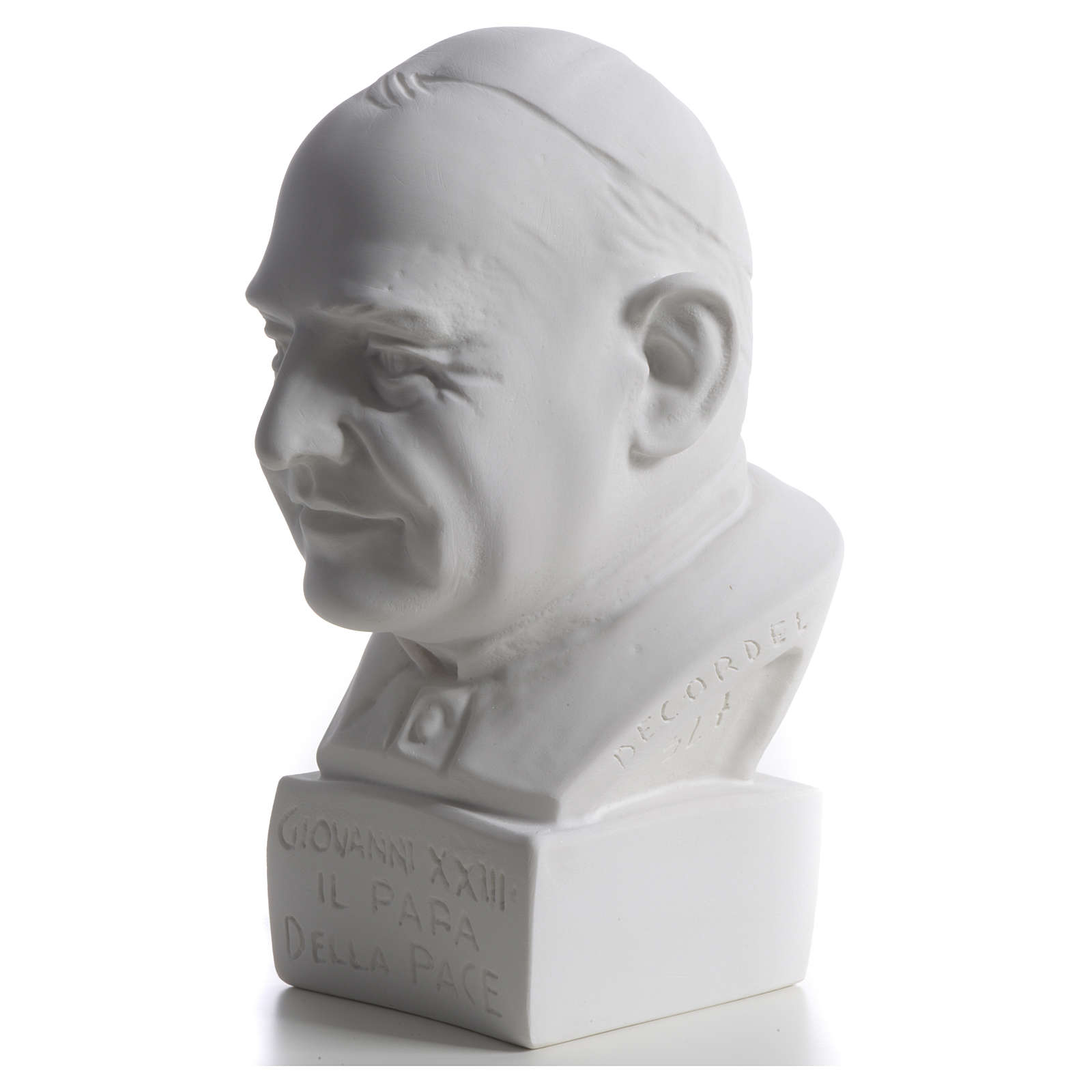Pope John XXIII bust in reconstituted marble, 22 cm 4