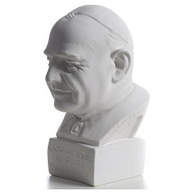 Pope John XXIII bust in reconstituted marble, 22 cm s6