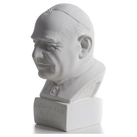 Pope John XXIII bust in reconstituted marble, 22 cm s3