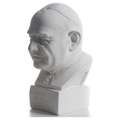 Pope John XXIII bust in reconstituted marble, 22 cm 6
