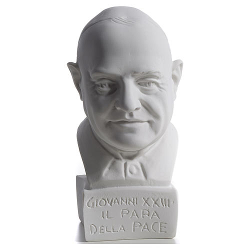 Pope John XXIII bust in reconstituted marble, 22 cm 1