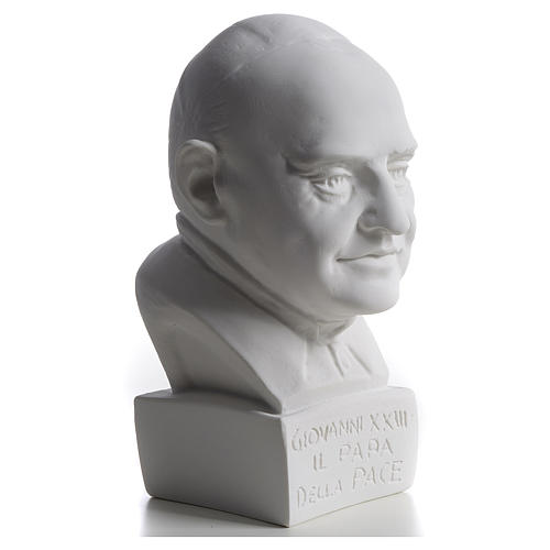Pope John XXIII bust in reconstituted marble, 22 cm 2