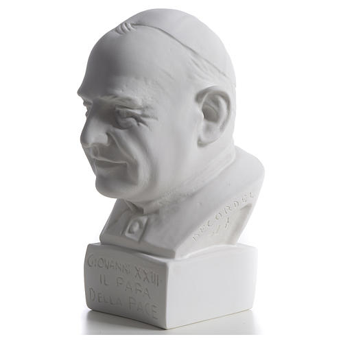 Pope John XXIII bust in reconstituted marble, 22 cm 3