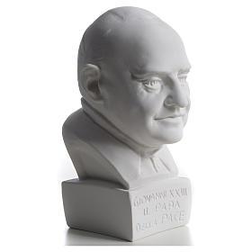 Buste Pape Jean XXIII 22 cm marbre s5