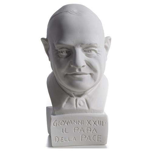 Buste Pape Jean XXIII 22 cm marbre 1