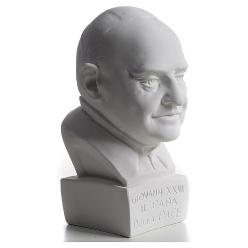 Buste Pape Jean XXIII 22 cm marbre 2