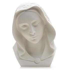 Rostro de la Virgen 28cm mármol reconstituido s4