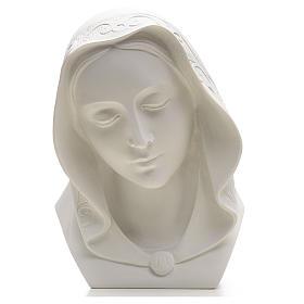 Rostro de la Virgen 28cm mármol reconstituido s1