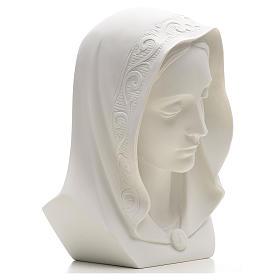 Rostro de la Virgen 28cm mármol reconstituido s2