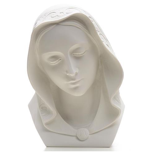 Rostro de la Virgen 28cm mármol reconstituido 4