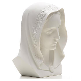 Our Lady, reconstituted carrara marble bust, 28 cm s2
