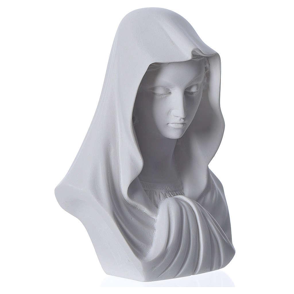 Rostro de la Virgen cm 16 mármol Carrara 4