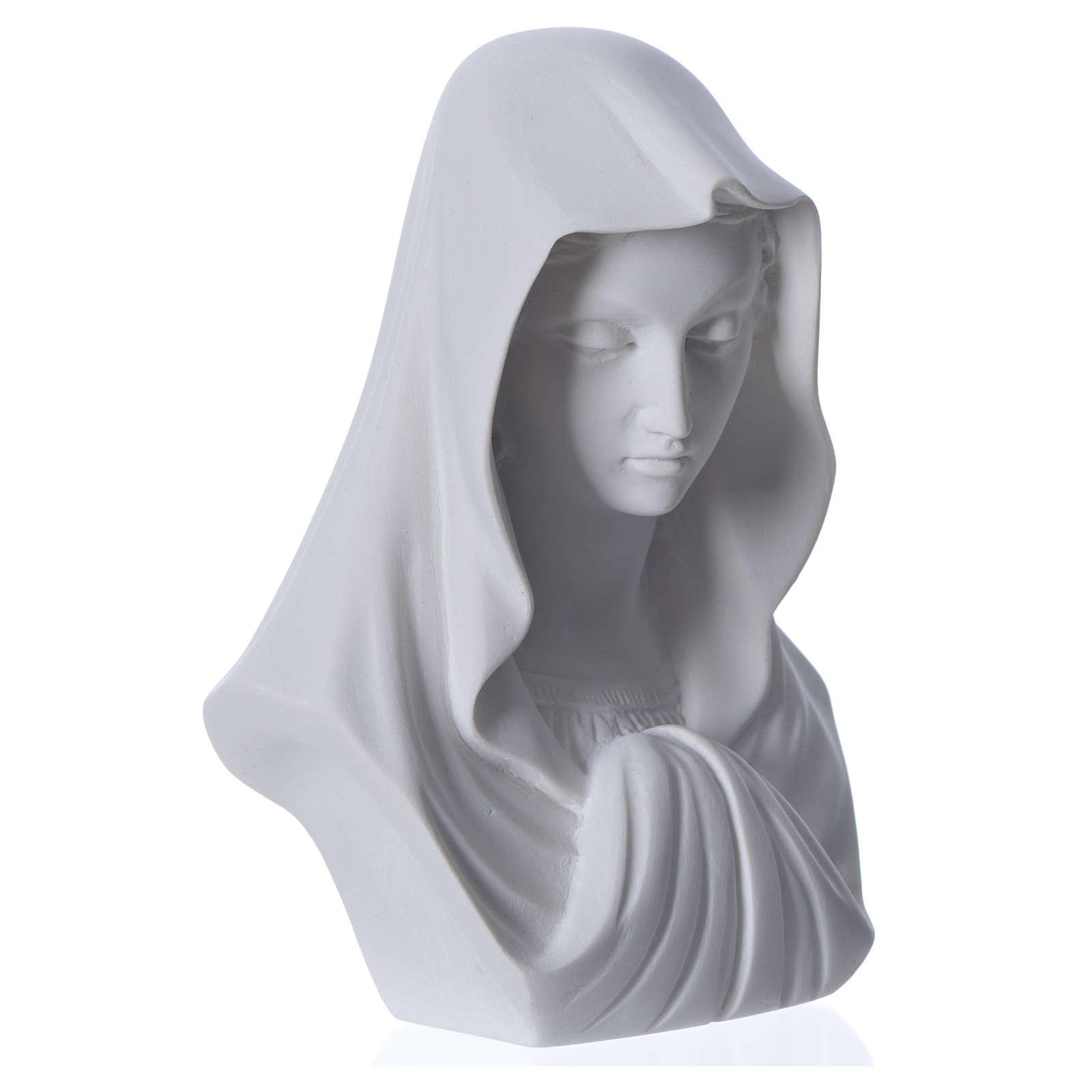 Buste Vierge Marie 16 cm marbre de Carrara 4