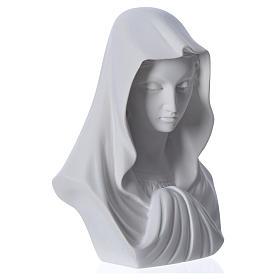 Buste Vierge Marie 16 cm marbre de Carrara s6