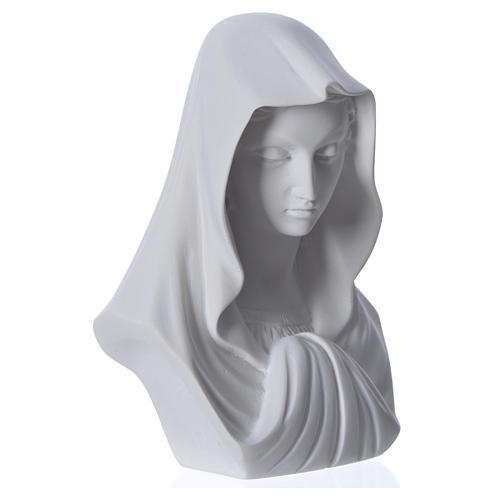 Buste Vierge Marie 16 cm marbre de Carrara 6