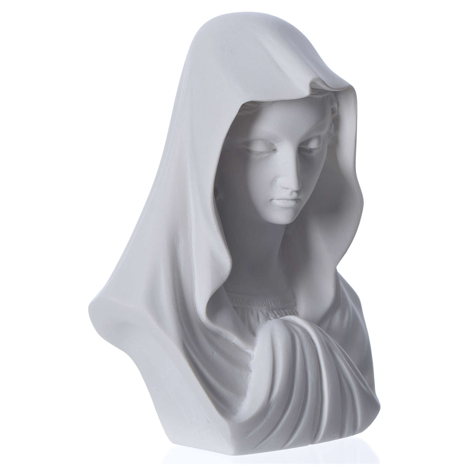 Busto Madonna cm 16 marmo di Carrara 4