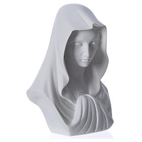 Busto Madonna cm 16 marmo di Carrara s6