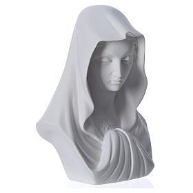 Popiersie Matki Boskiej marmur z Carrary 16 cm s2