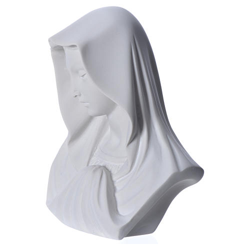 Our Lady, reconstituted carrara marble bust, 16 cm 8