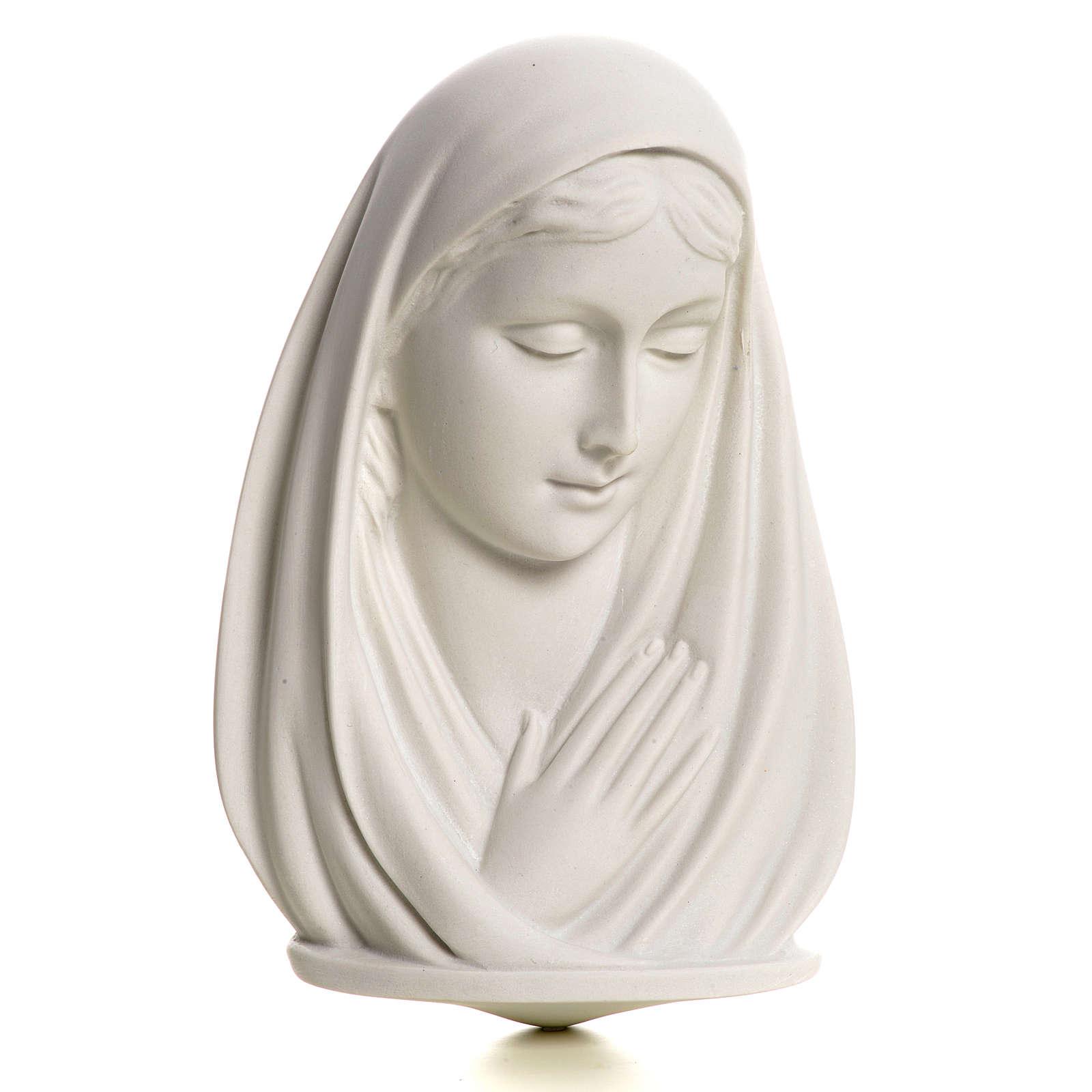 Busto Madonna cm 13 marmo sintetico 4
