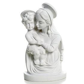 Imagens em Pó de Mármore de Carrara: Busto Virgem com menino 22 cm