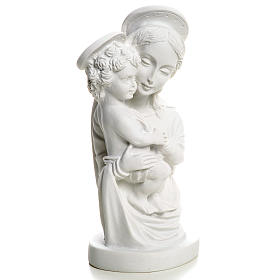 Our Lady with Child bust in reconstituted marble, 22 cm s5