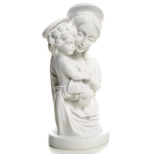 Our Lady with Child bust in reconstituted marble, 22 cm 5