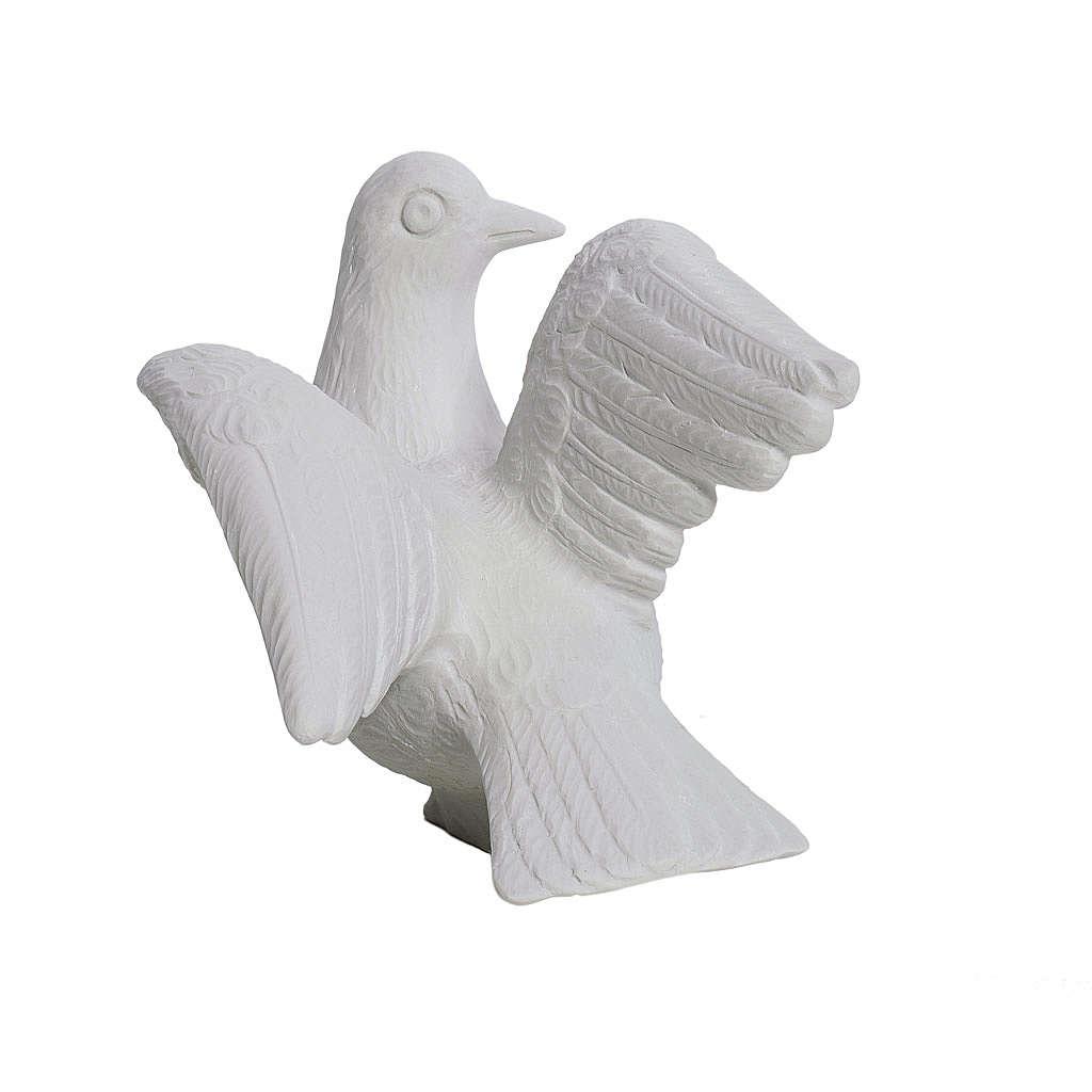 Dove facing right, composite marble statue, 15 cm 4