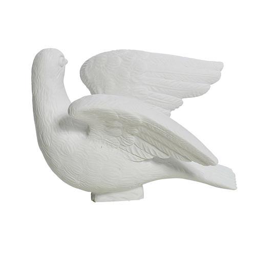 Dove facing right, composite marble statue, 15 cm 3