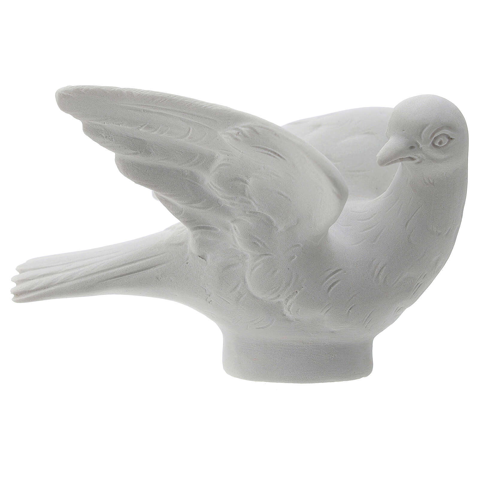 Dove facing right, 8 cm reconstituted marble statue 4
