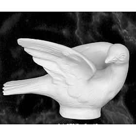 Dove facing right, 8 cm reconstituted marble statue s1